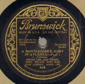 A Bootlegger's Joint In Atlanta--Part I