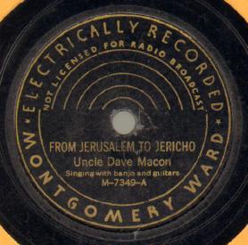 From Jerusalem To Jericho
